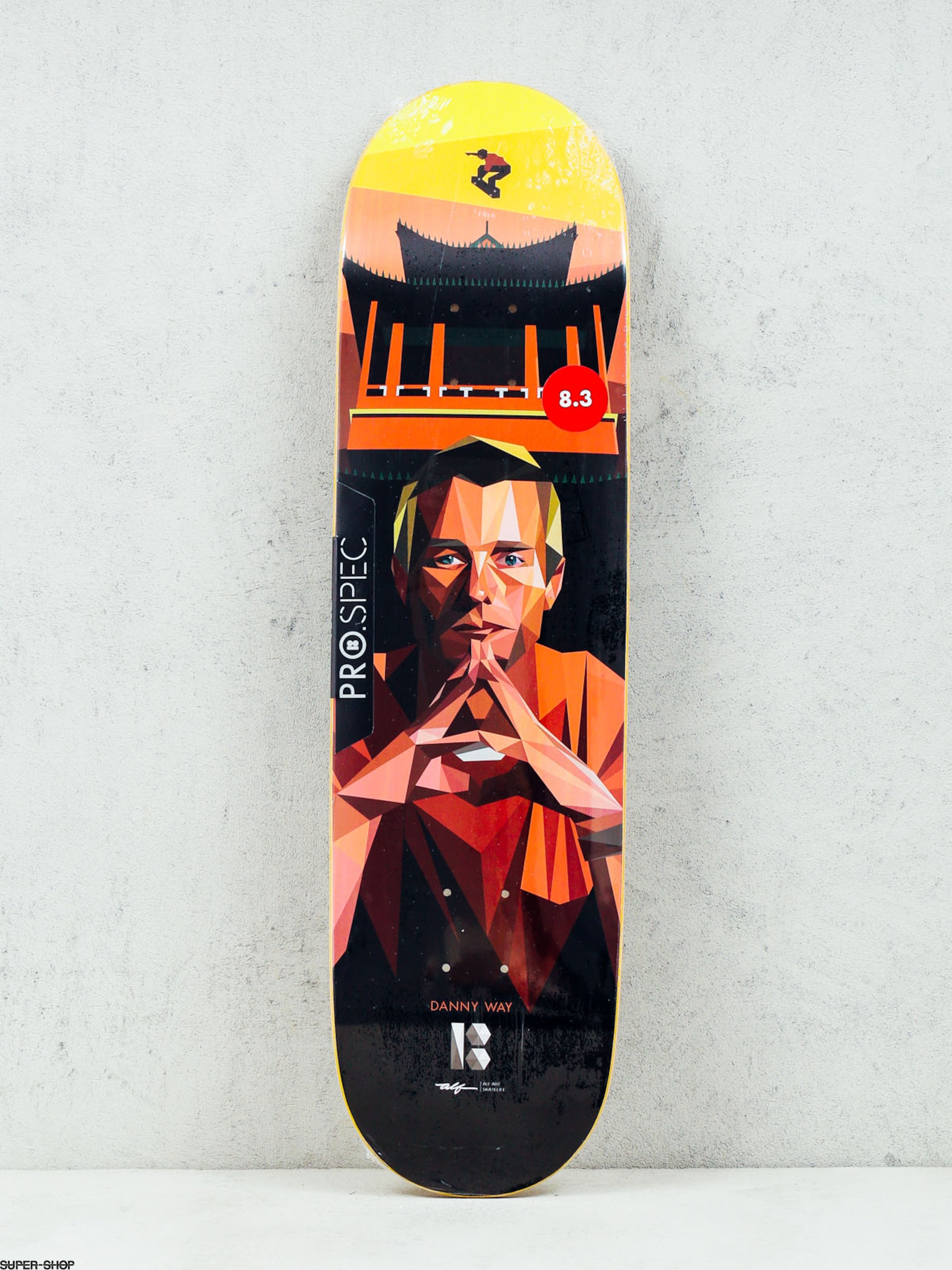 Plan B Deck Danny Way Alf Art (black/red/yellow)