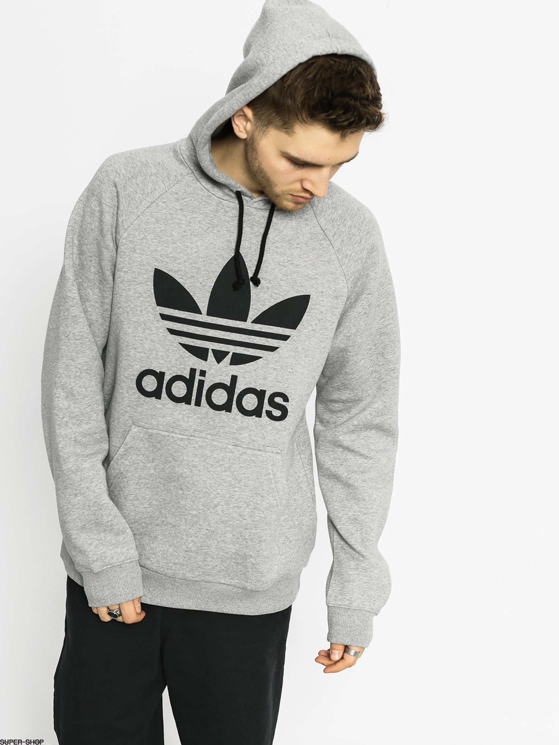 adidas Hoodie Trefoil HD (medium grey heather)