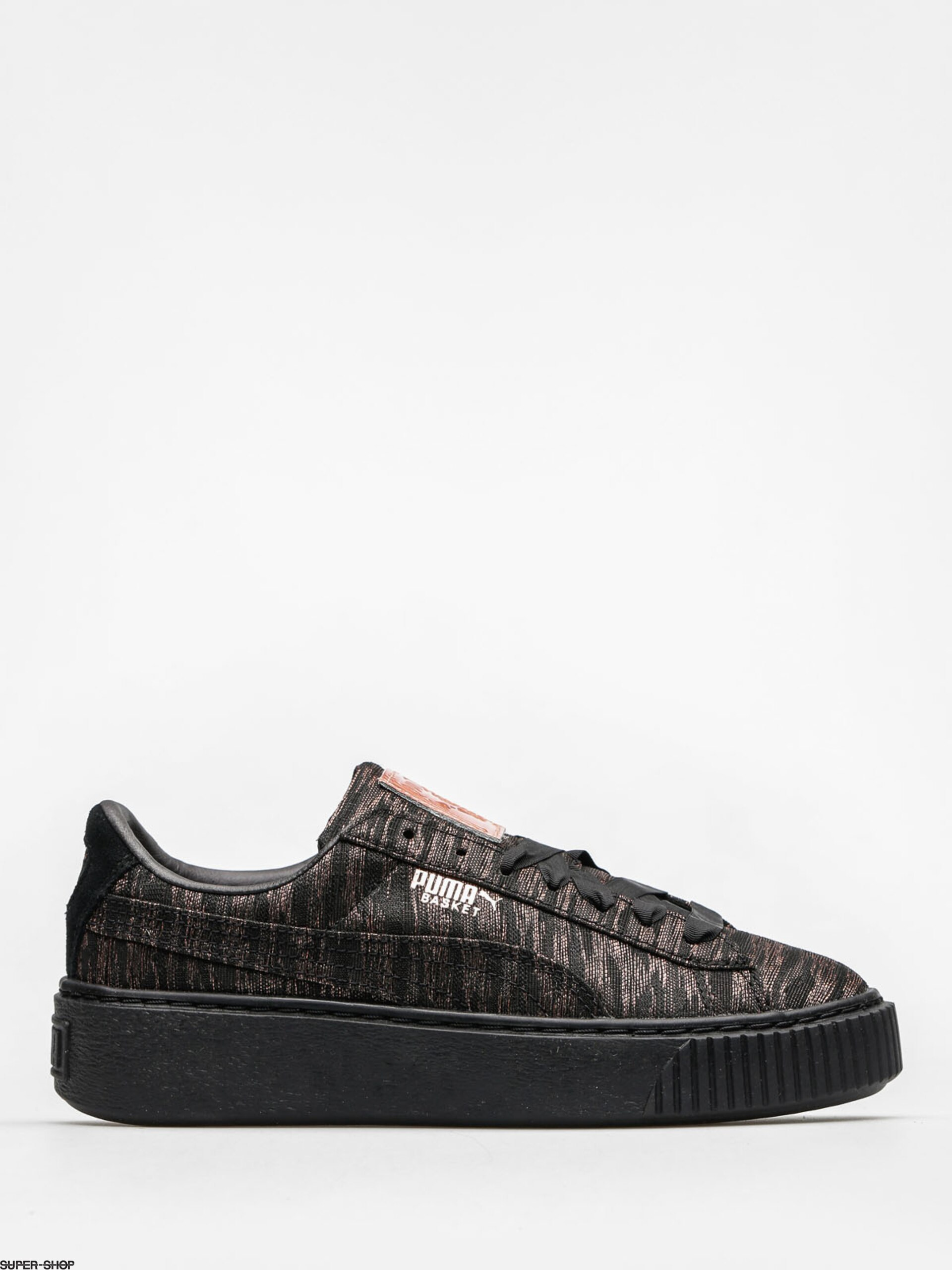 puma schuhe basket schwarz