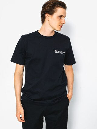 Carhartt T-shirt College Script (dark navy/white)