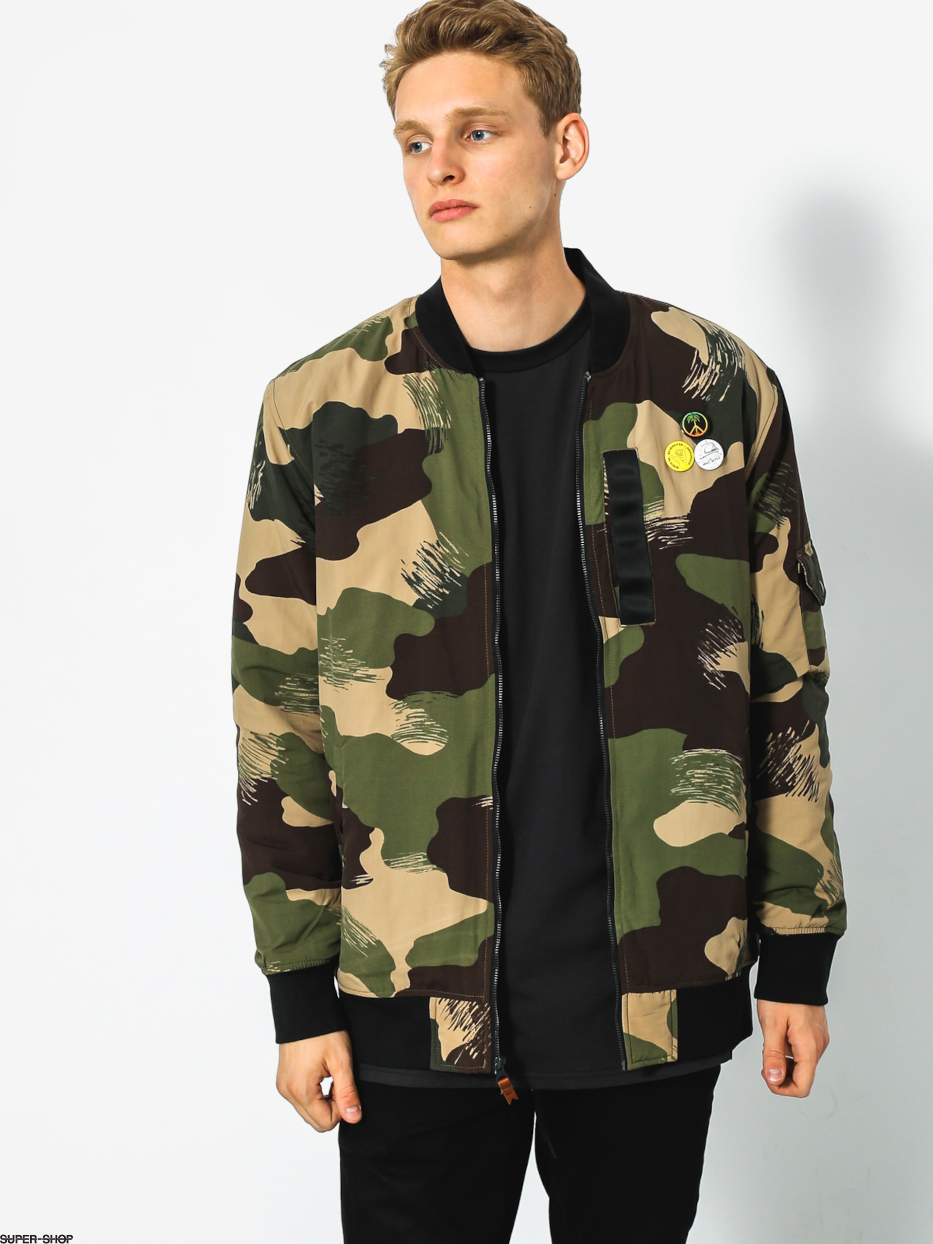 Quiksilver Jacket Trestles Army (scretch camo colour)