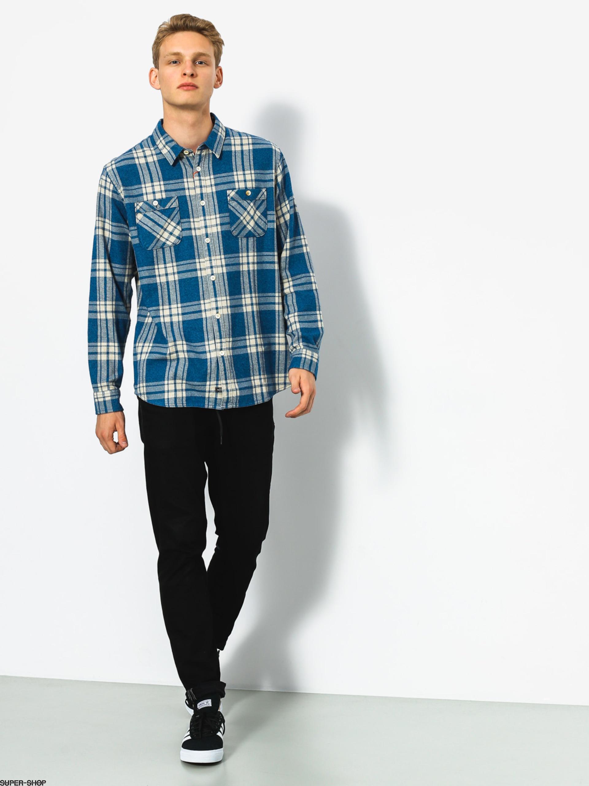 QUIKSILVER Waterman Mens Moon Tides Flannel Shirt