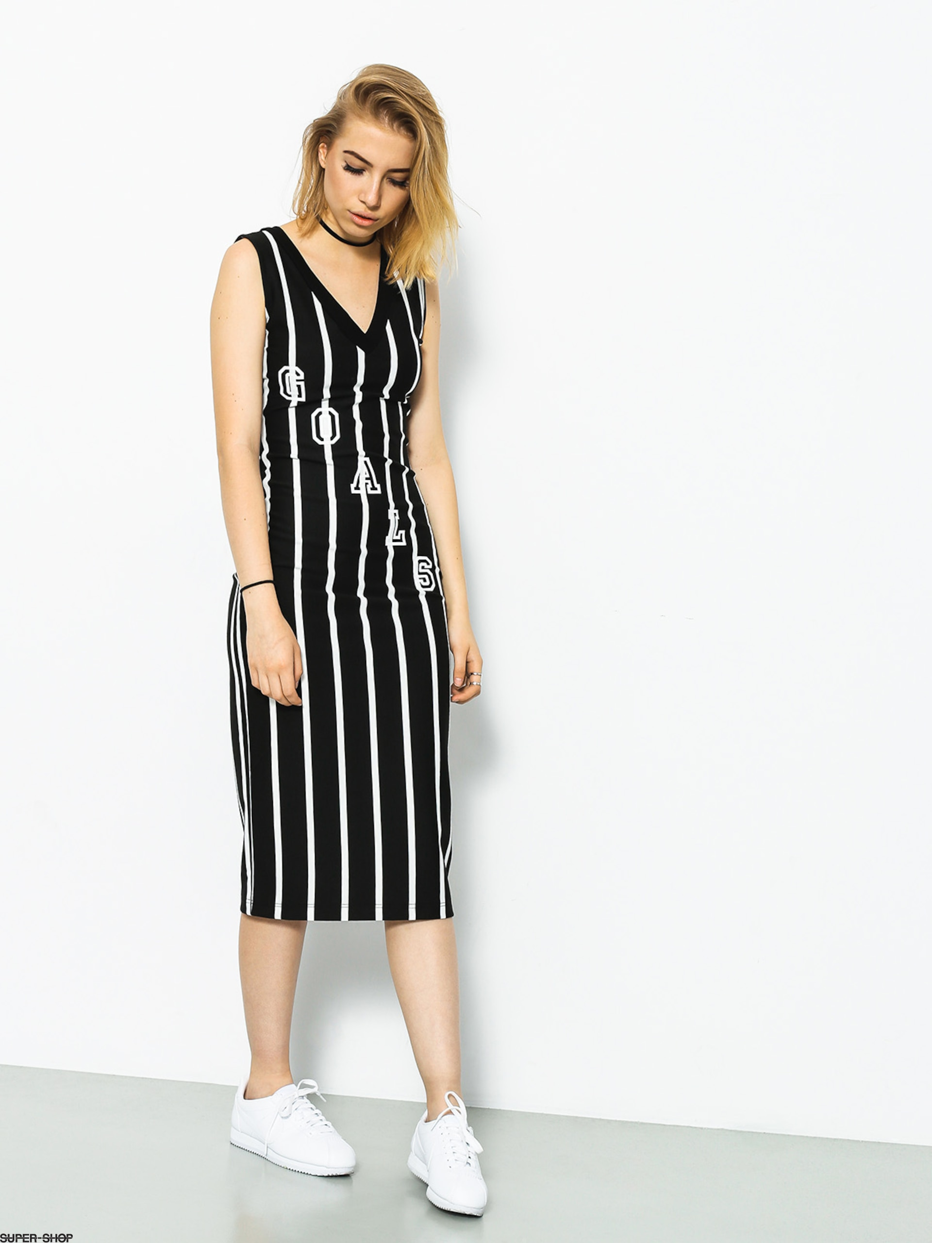 Marska Kleid Oldschool Strips Wmn (black/white)