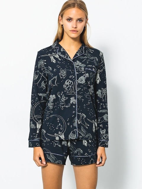 Yeah Bunny Shirt Puppy LS Wmn (dark navy)