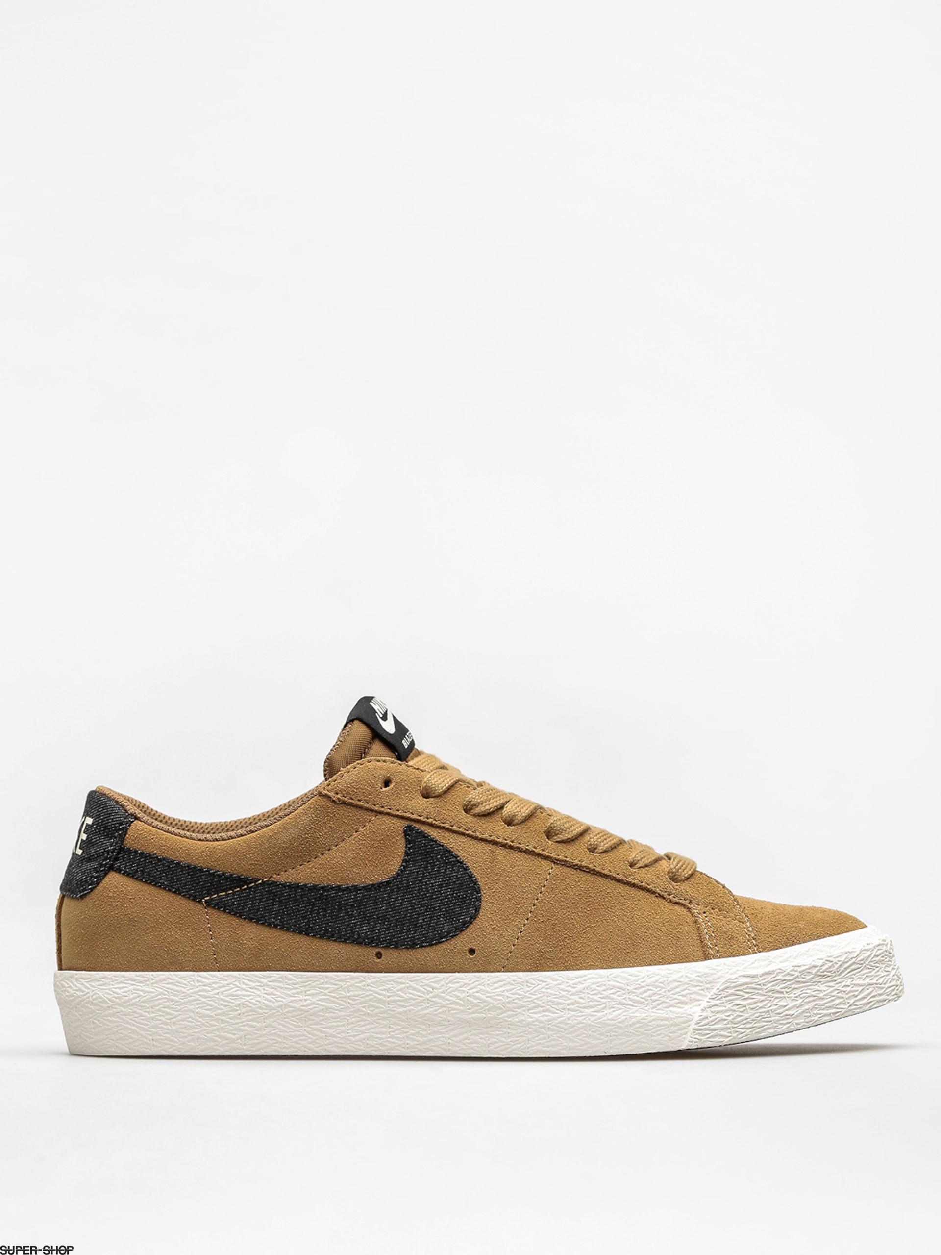 hot sale online 489dc e0970 where to buy nike sb shoes zoom blazer low golden beige black sail gum  light brown