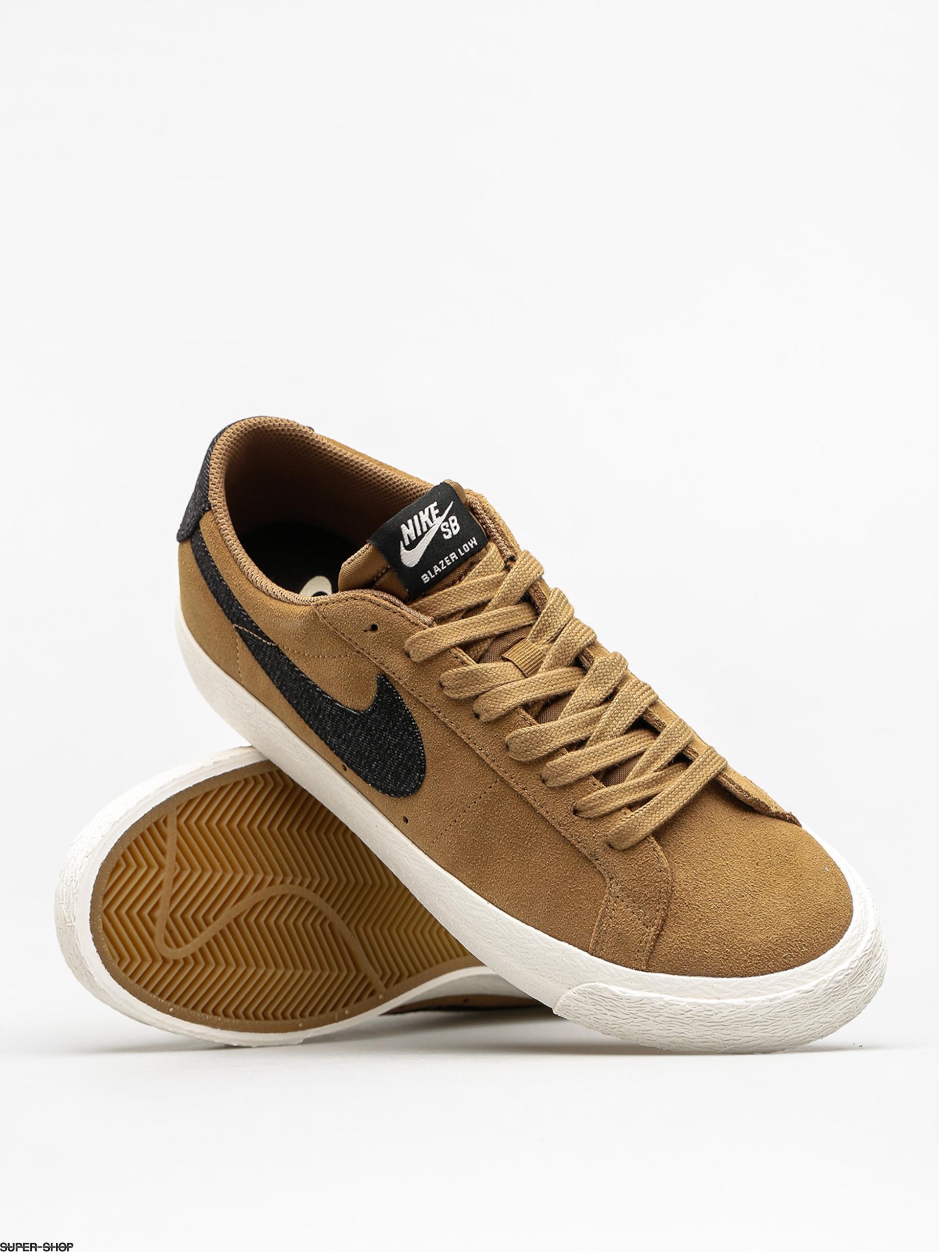 Nike SB Shoes Zoom Blazer Low (golden beige/black sail gum light brown)
