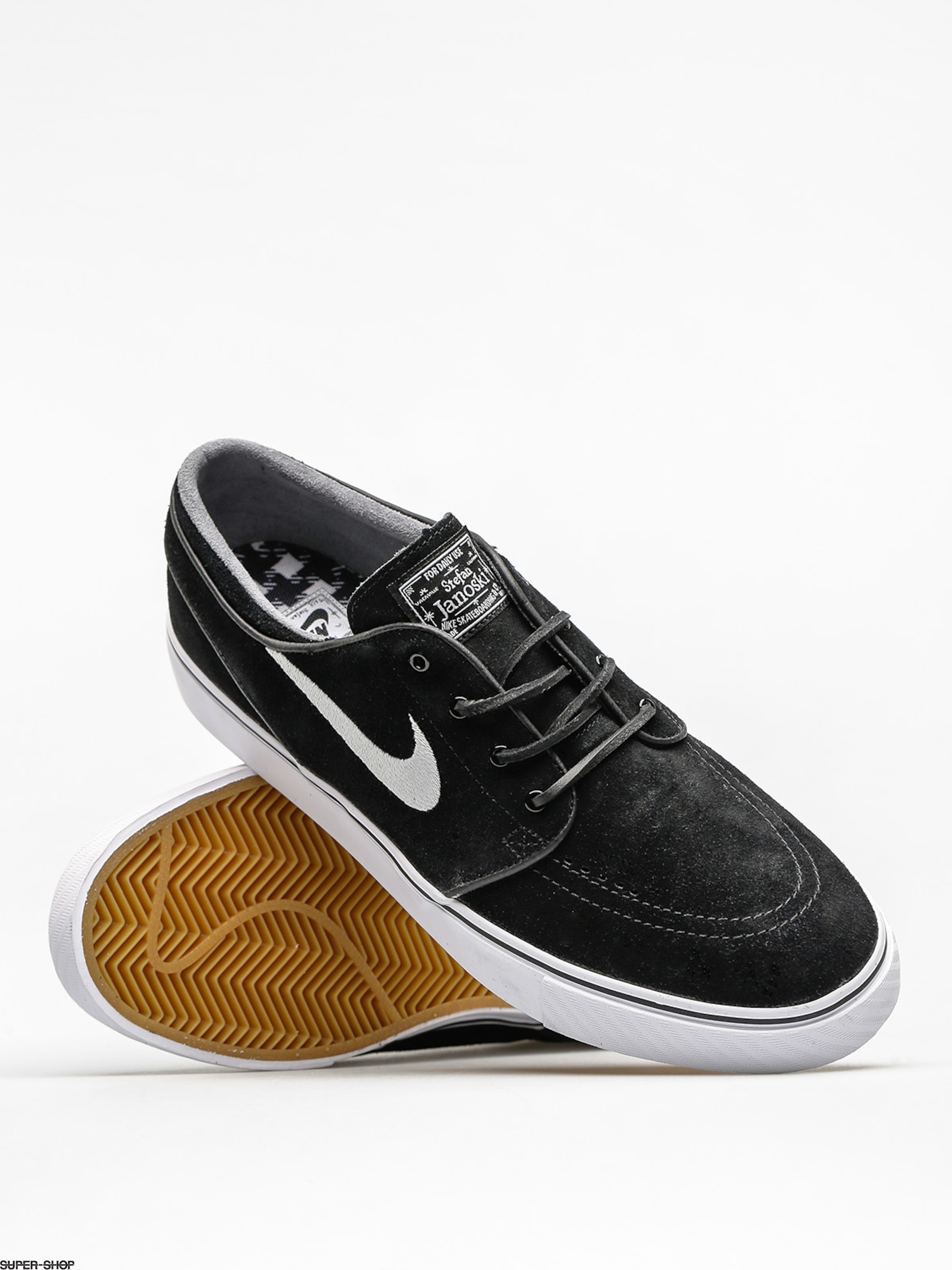 super popular 762d0 66bf5 Nike SB Shoes Zoom Stefan Janoski Og (black white gum light brown)