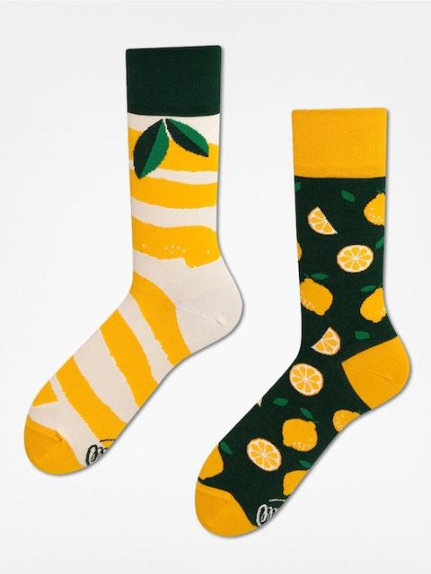 Many Mornings Socks The Lemons (yellow/green)