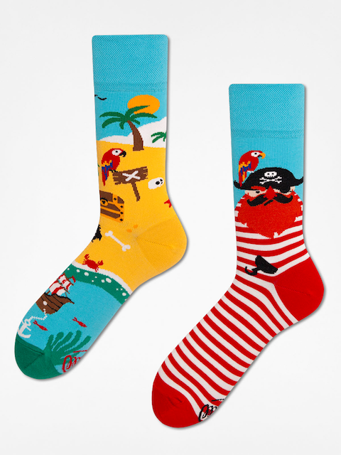 Many Mornings Socken Pirate Island (blue/red)