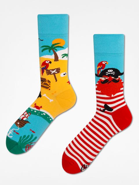 Many Mornings Socks Pirate Island (blue/red)