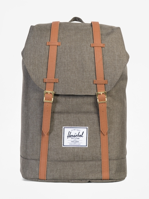 Herschel Supply Co. Rucksack Retreat (canteen crosshatch/tan synthetic leather)