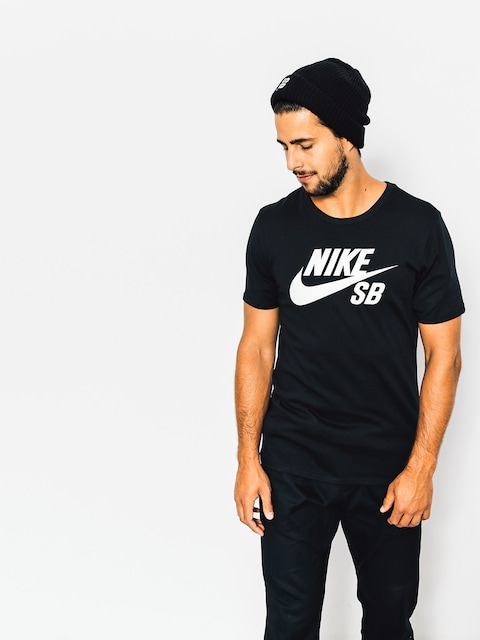 Nike SB T-Shirt Logo (black/white)