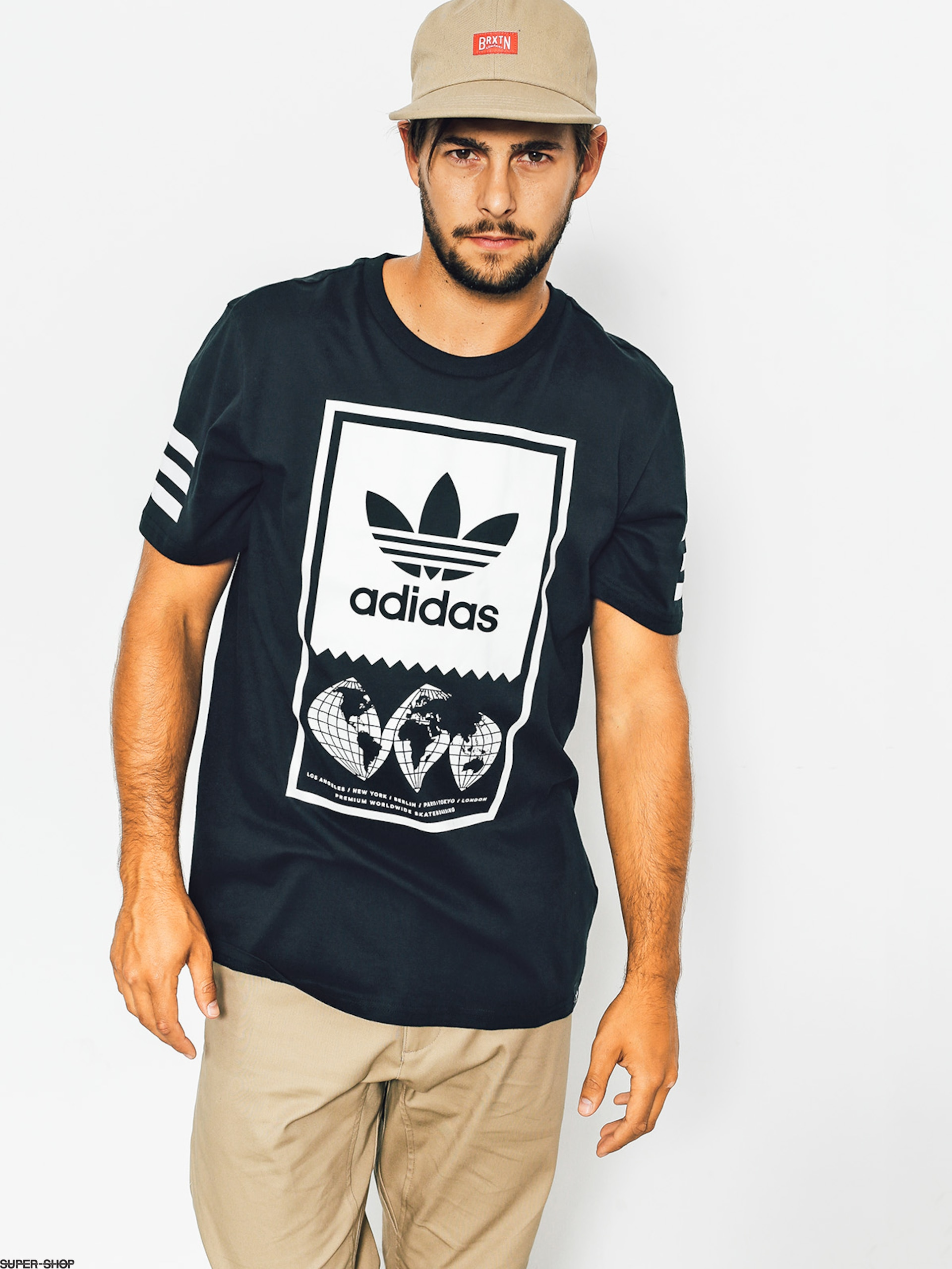 adidas T-shirt Global Lckup (black/white)