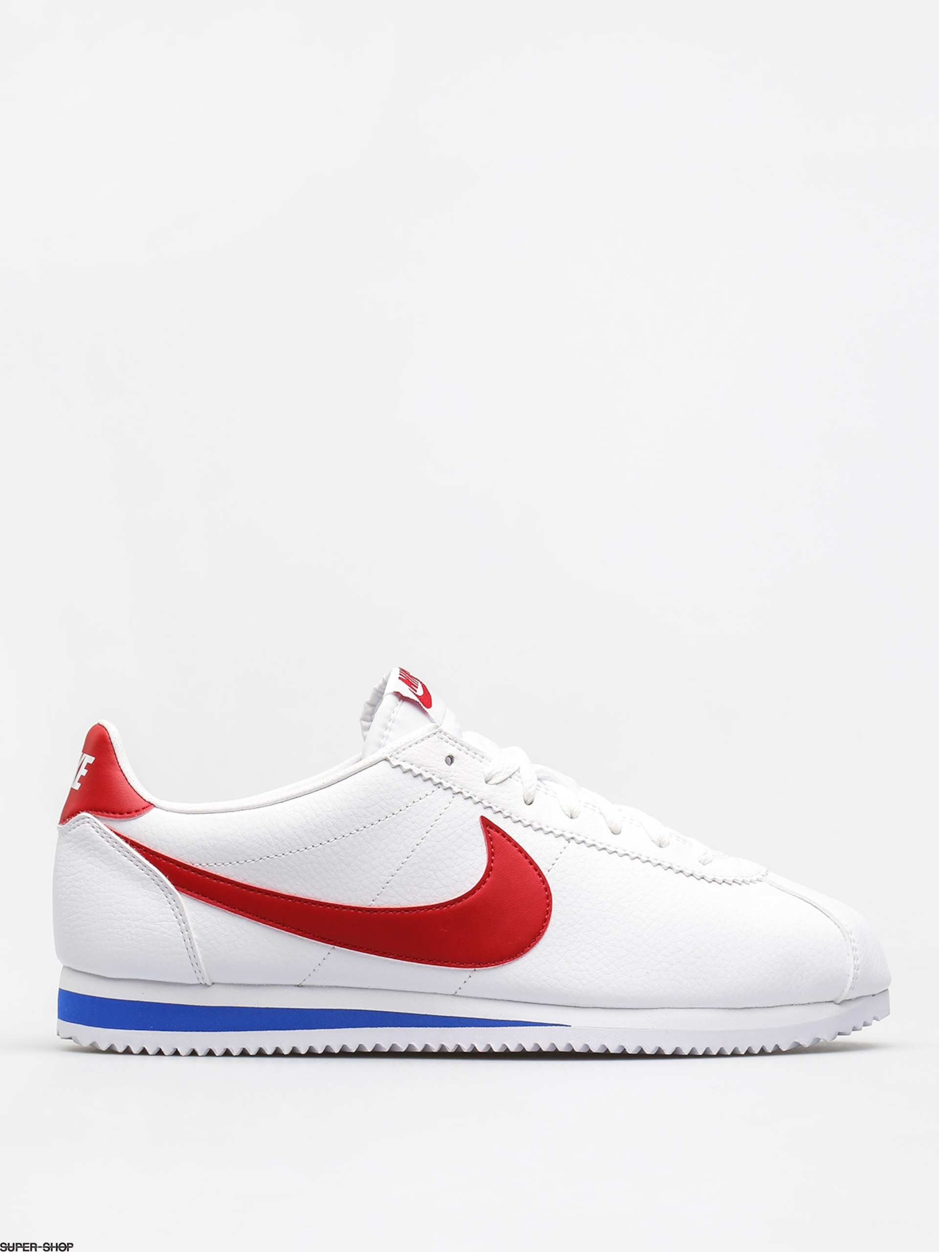 Nike Shoes Classic Cortez Leather (white/varsity red varsity royal)
