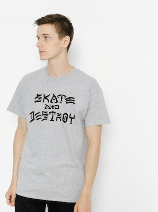 Thrasher T-shirt Skate And Destroy (grey)