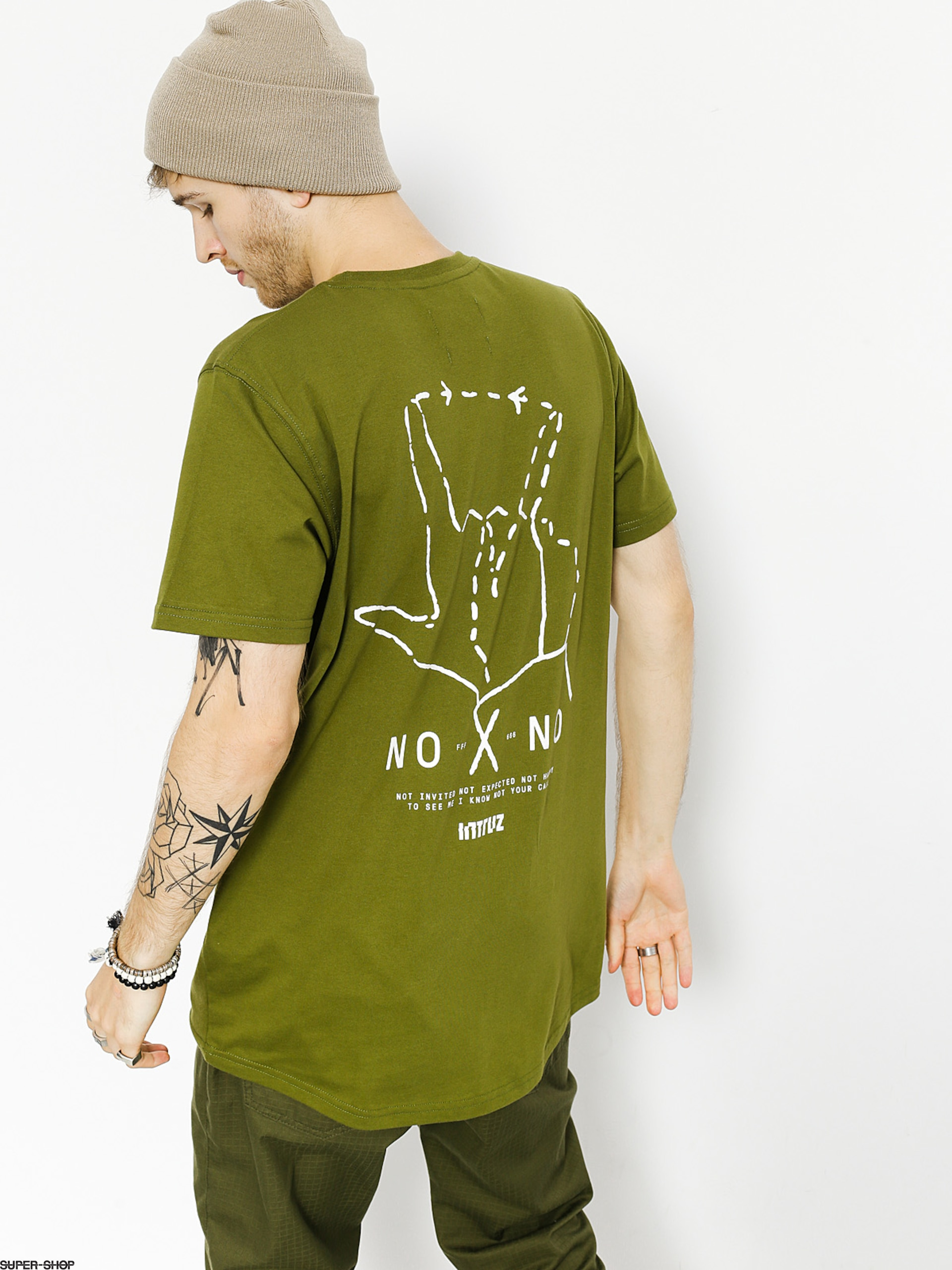 Intruz T-shirt No No (army)