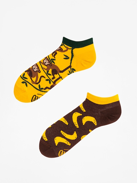 Many Mornings Socks Monkey Business Low (yellow/green/brown)