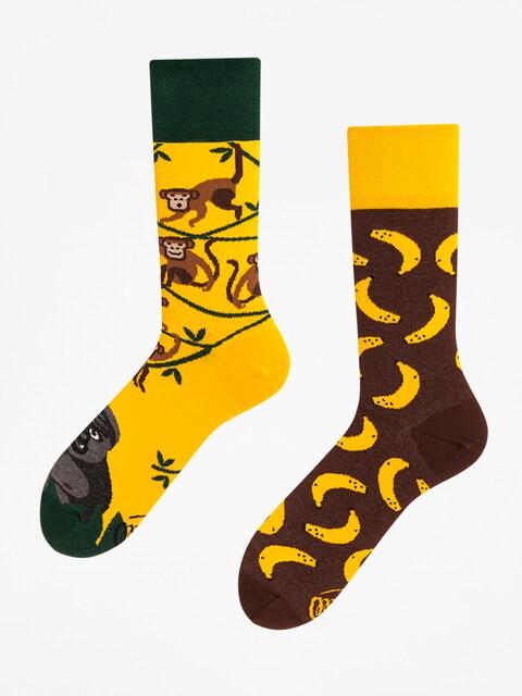 Many Mornings Socken Monkey Business (yellow/green/brown)