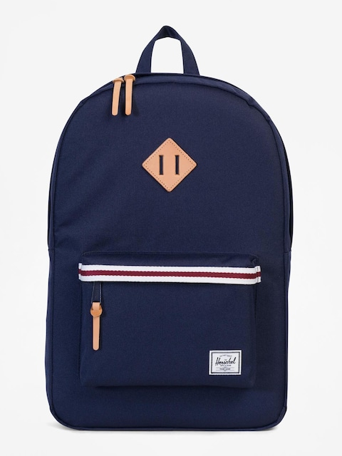 Herschel Supply Co. Backpack Heritage (peacoat/white/windsor wine/veggie tan leather)