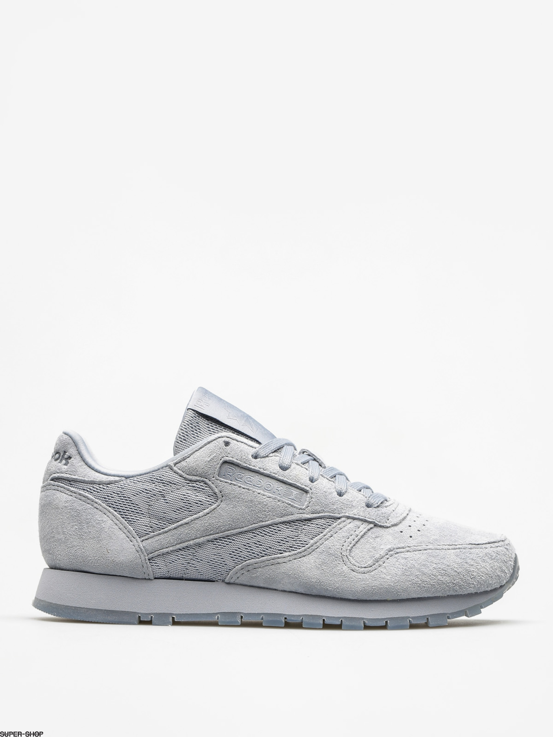 Reebok Shoes Cl Lthr Lace Wmn (meteor grey/white)