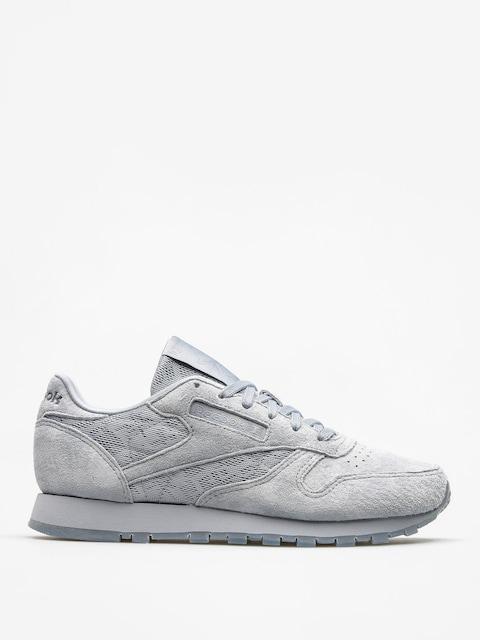 Reebok Schuhe Cl Lthr Lace Wmn (meteor grey/white)