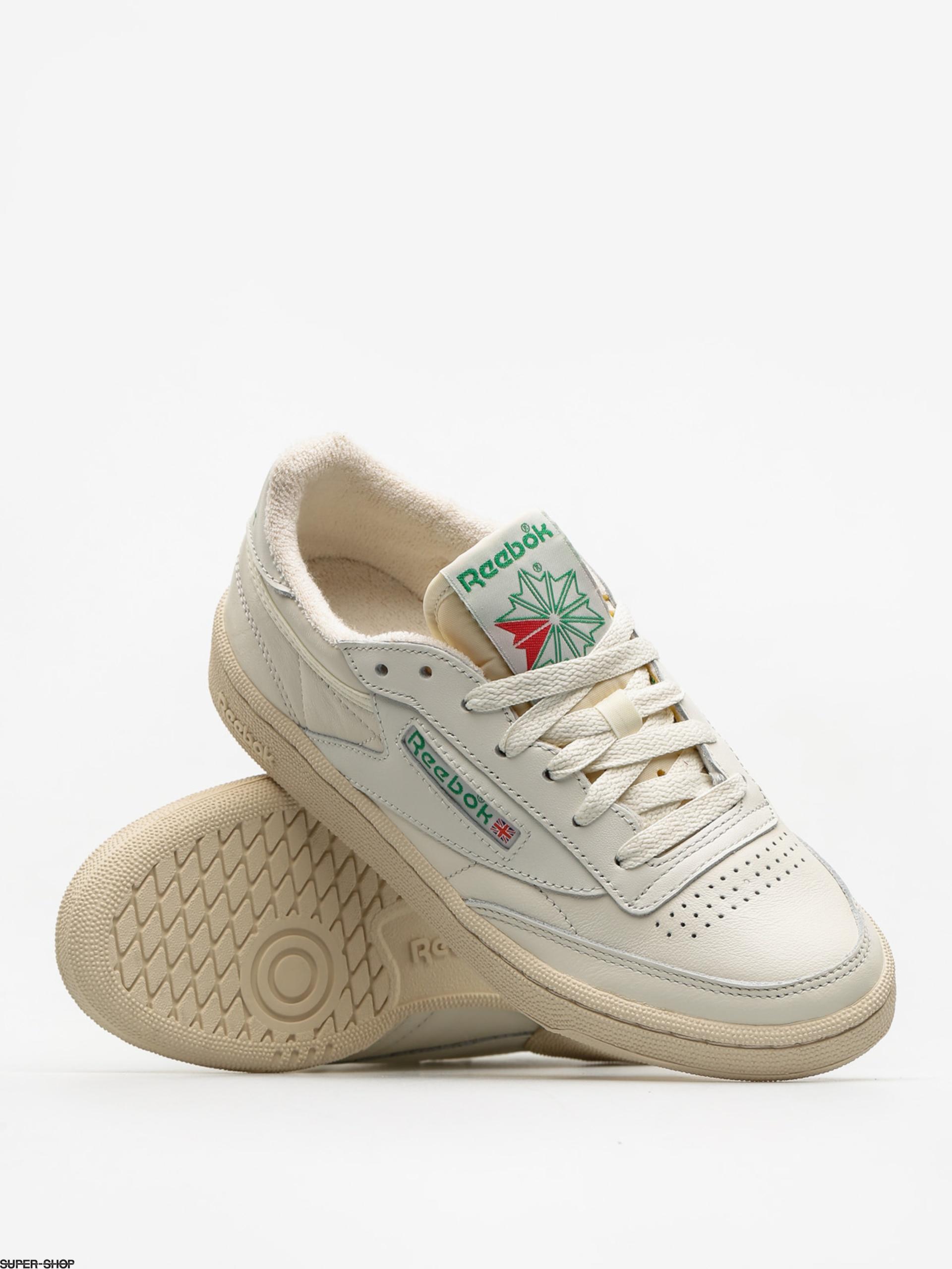 Red Sneaker Schuhe White Reebok Green WMN Club C 85 Chalk