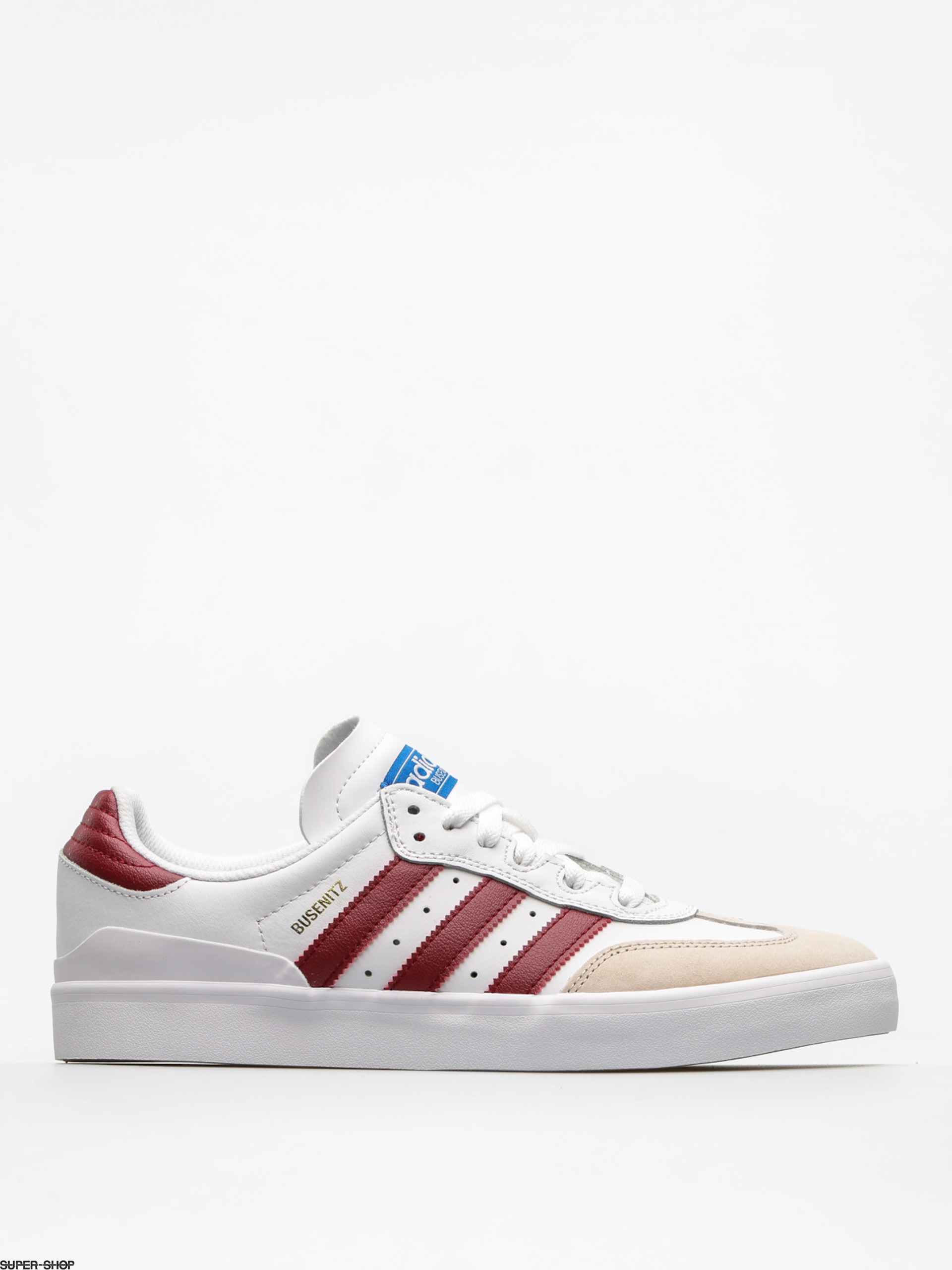 adidas Shoes Busenitz Vulc Rx (ftwr white/collegiate burgundy/bluebird)