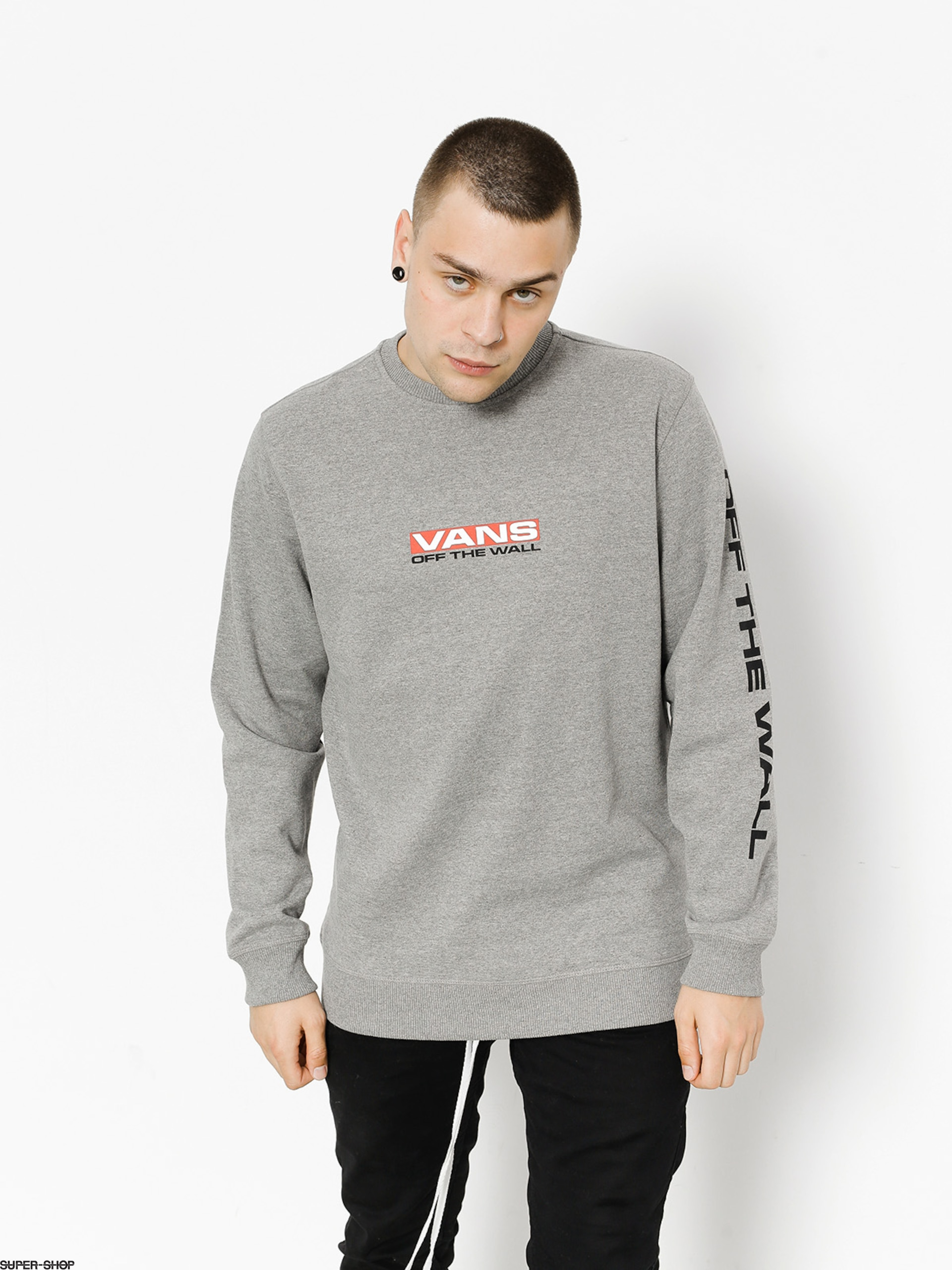 4bdd4ccdb9 Vans Sweatshirt Side Waze Crew (cement heather)