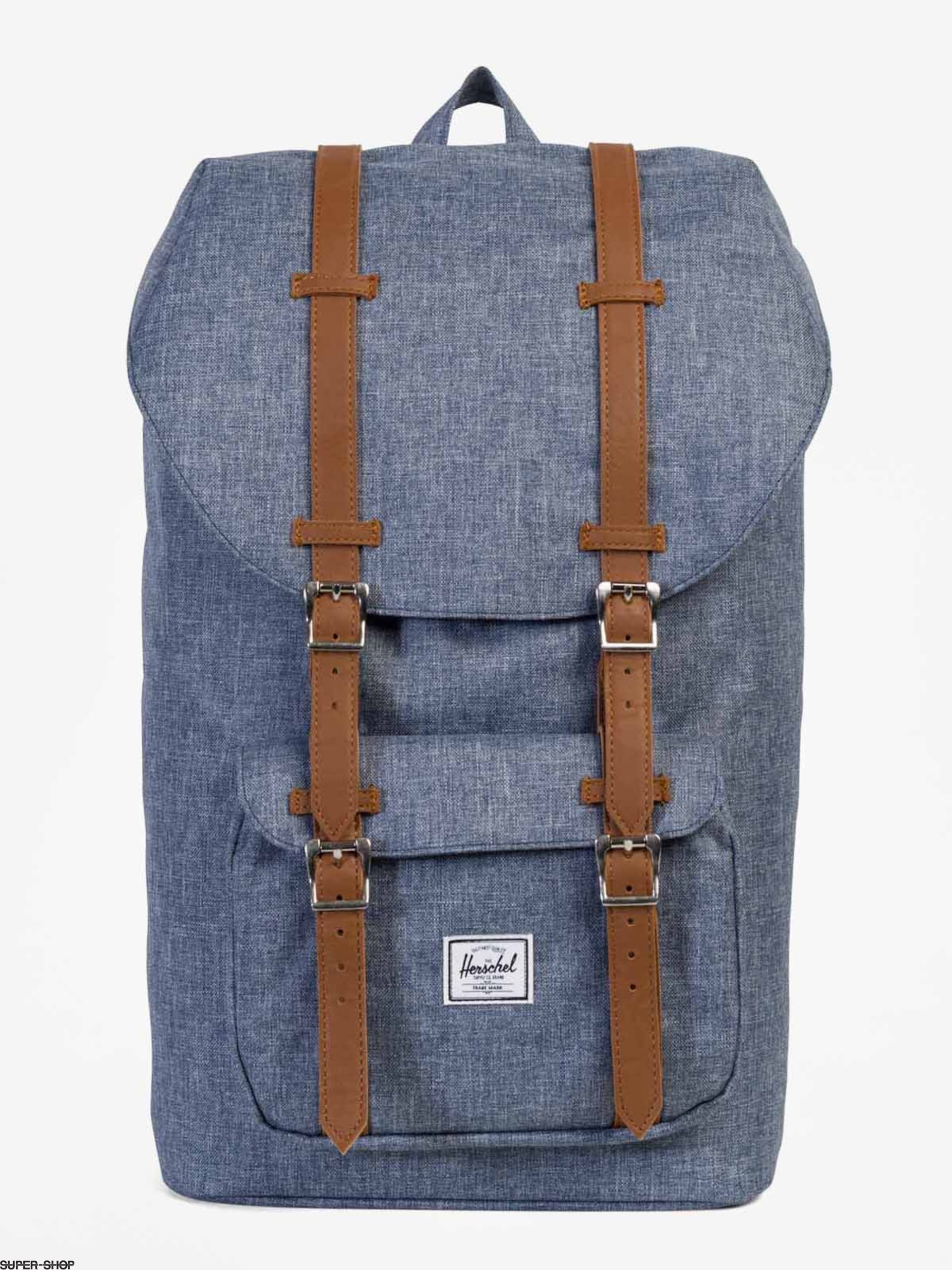 eed0ca40968 Herschel Supply Co. Backpack Little America (dark chambray crosshatch tan  synthetic leather)