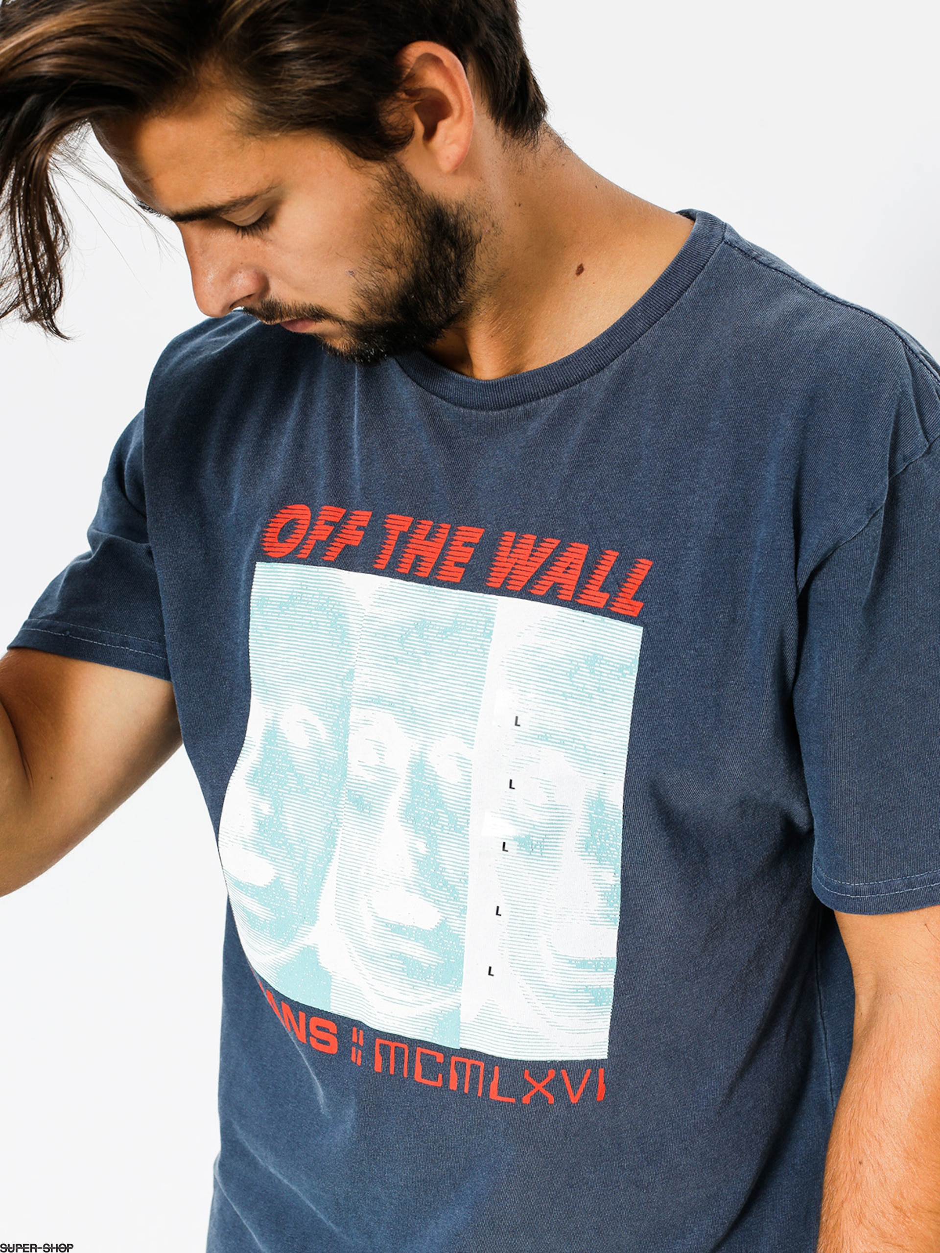 6847b14961 Vans T-shirt Melted Mind (dress blues)
