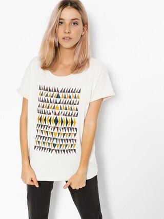 Roxy T-shirt Boyfriend Wallpaper Geo Wmn (metro heather)