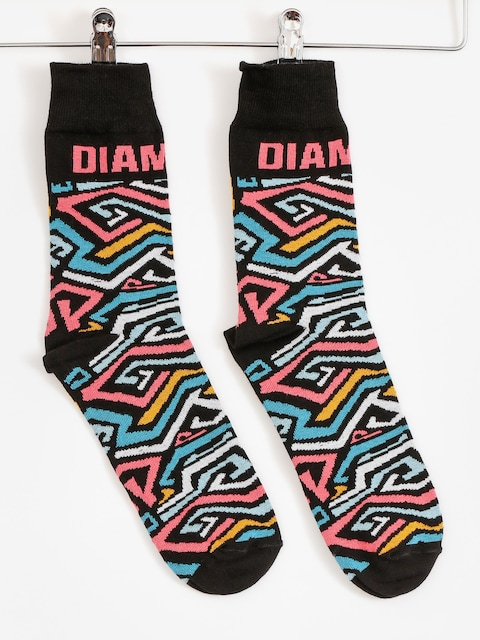 Diamante Wear Socks Zig Zag (black)
