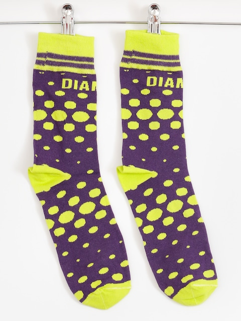 Diamante Wear Socks Toxic (lime/purple)