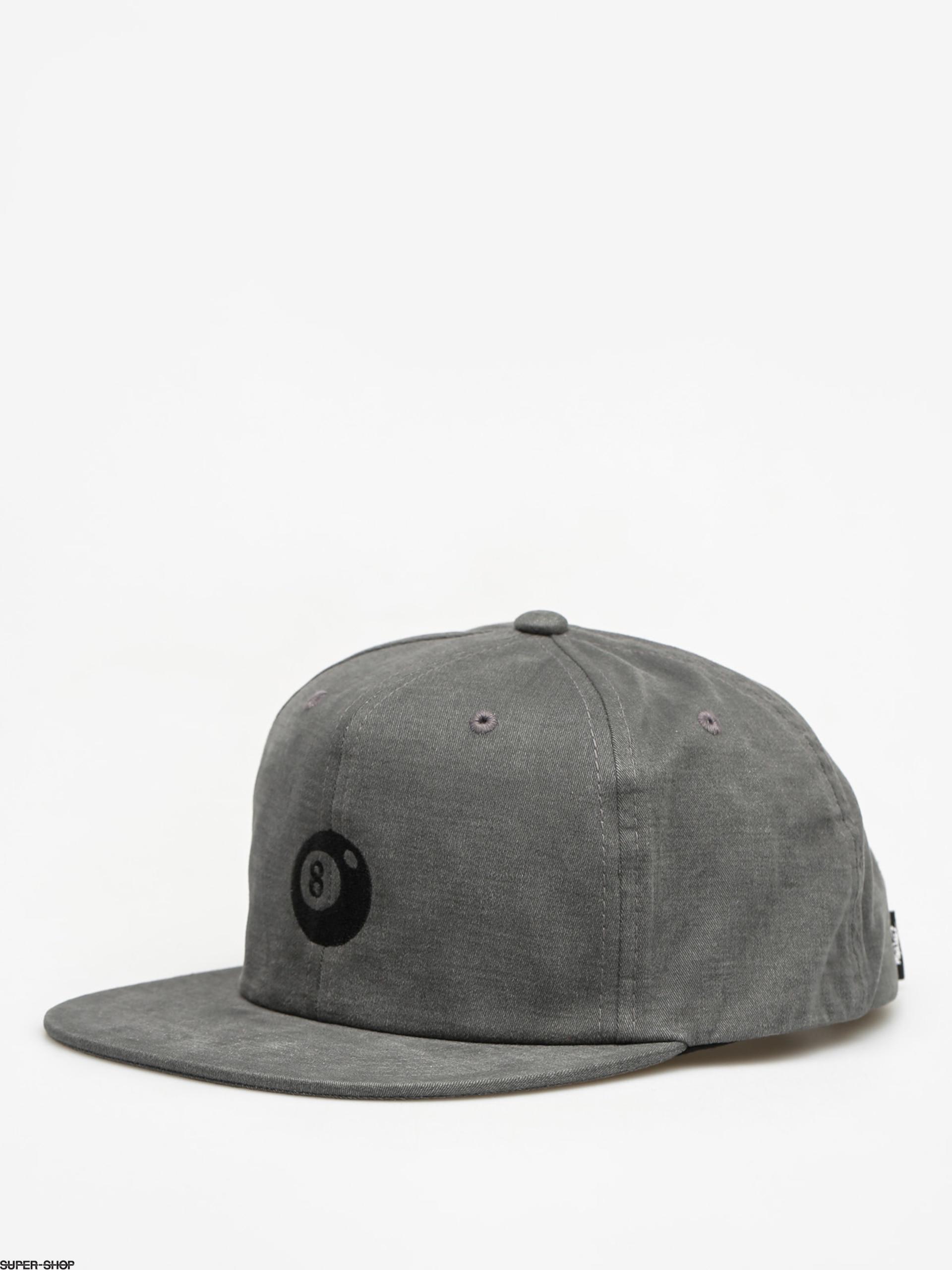39b9632c867 Stussy Cap 8 Ball Strapback (black)