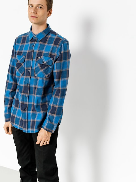 Brixton Hemd Bowery Flannel Ls (blue/navy)