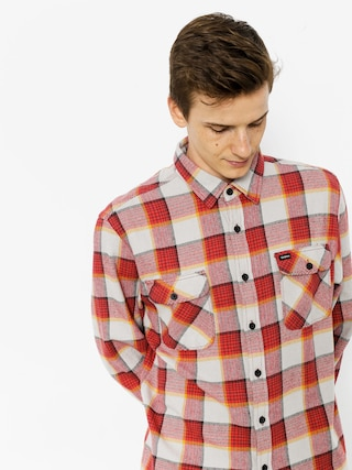 Brixton Shirt Bowery Flannel Ls (red/grey)
