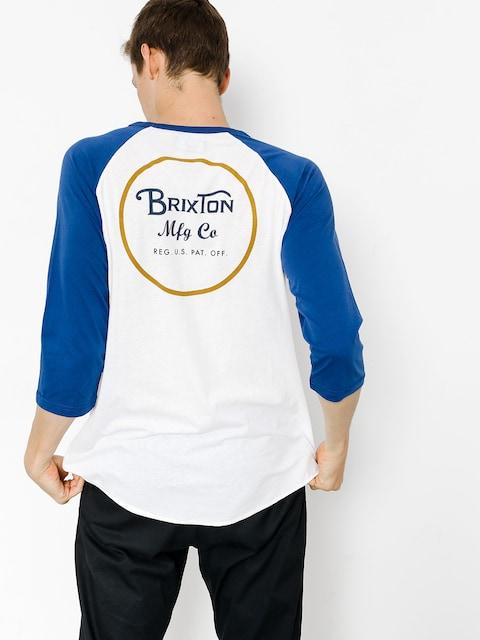 Brixton T-shirt Koszulka Wheeler 3I4 (white/cobalt)