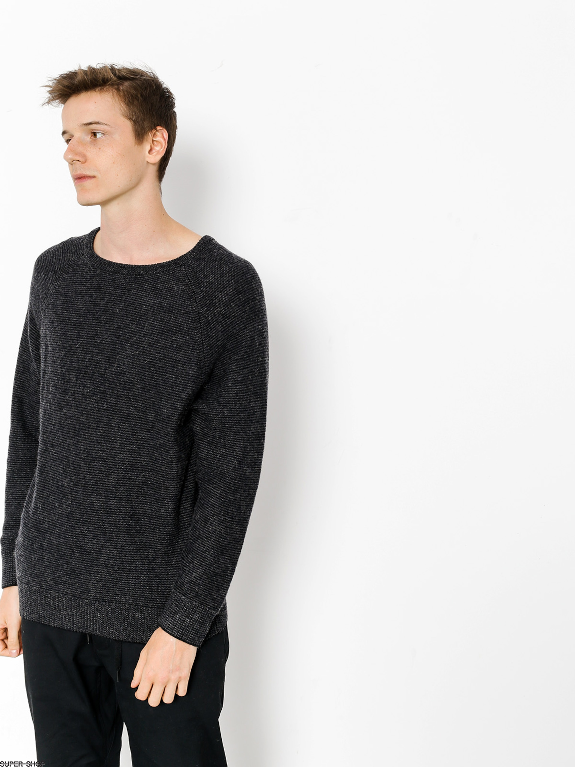 Brixton Sweater Anderson (grey/black)