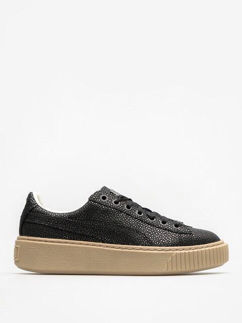 Puma Schuhe Basket Platform Lux Wn S Wmn (puma black/puma black)