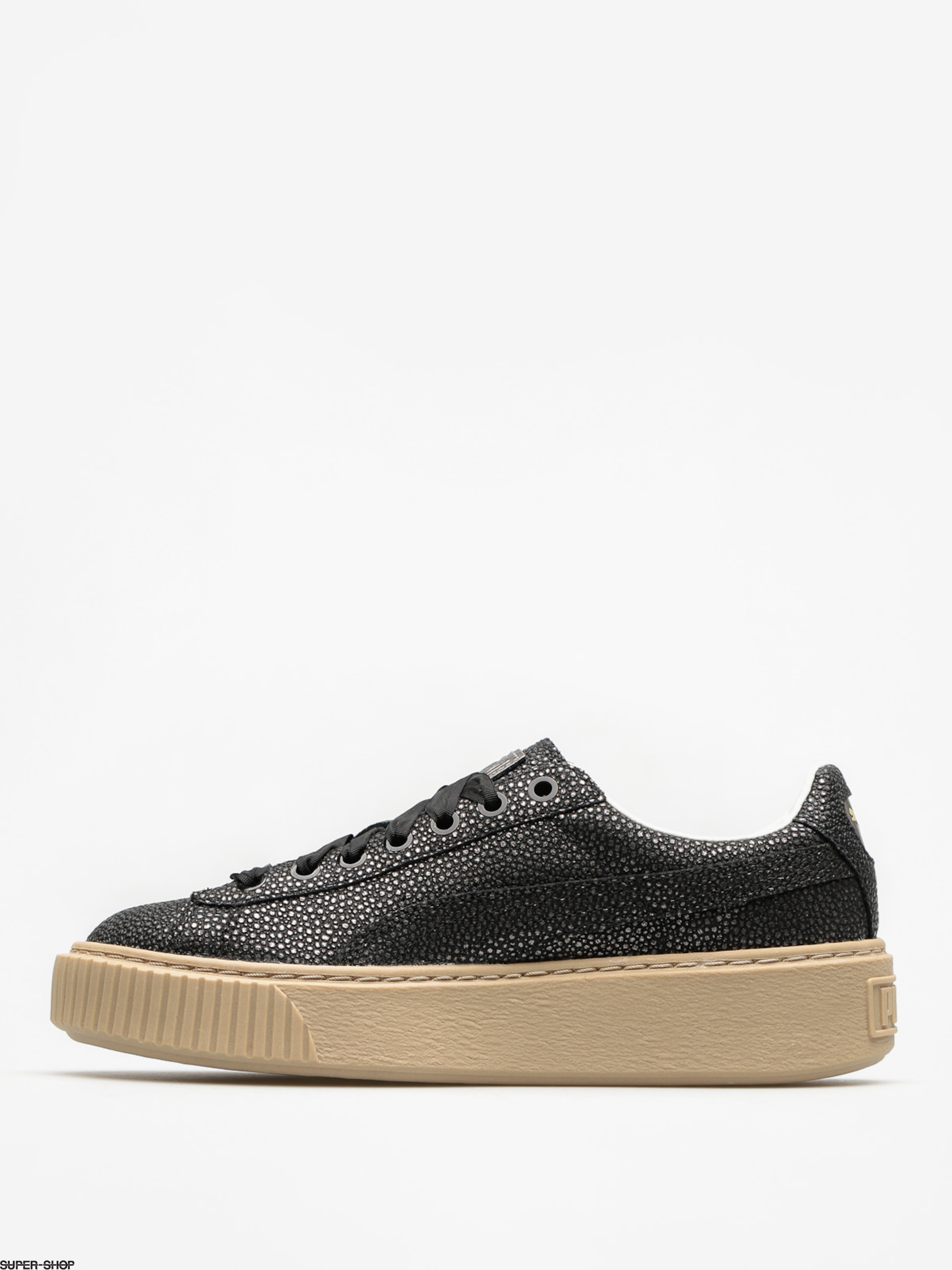 Puma Shoes Basket Platform Lux Wn S Wmn (puma blackpuma black)