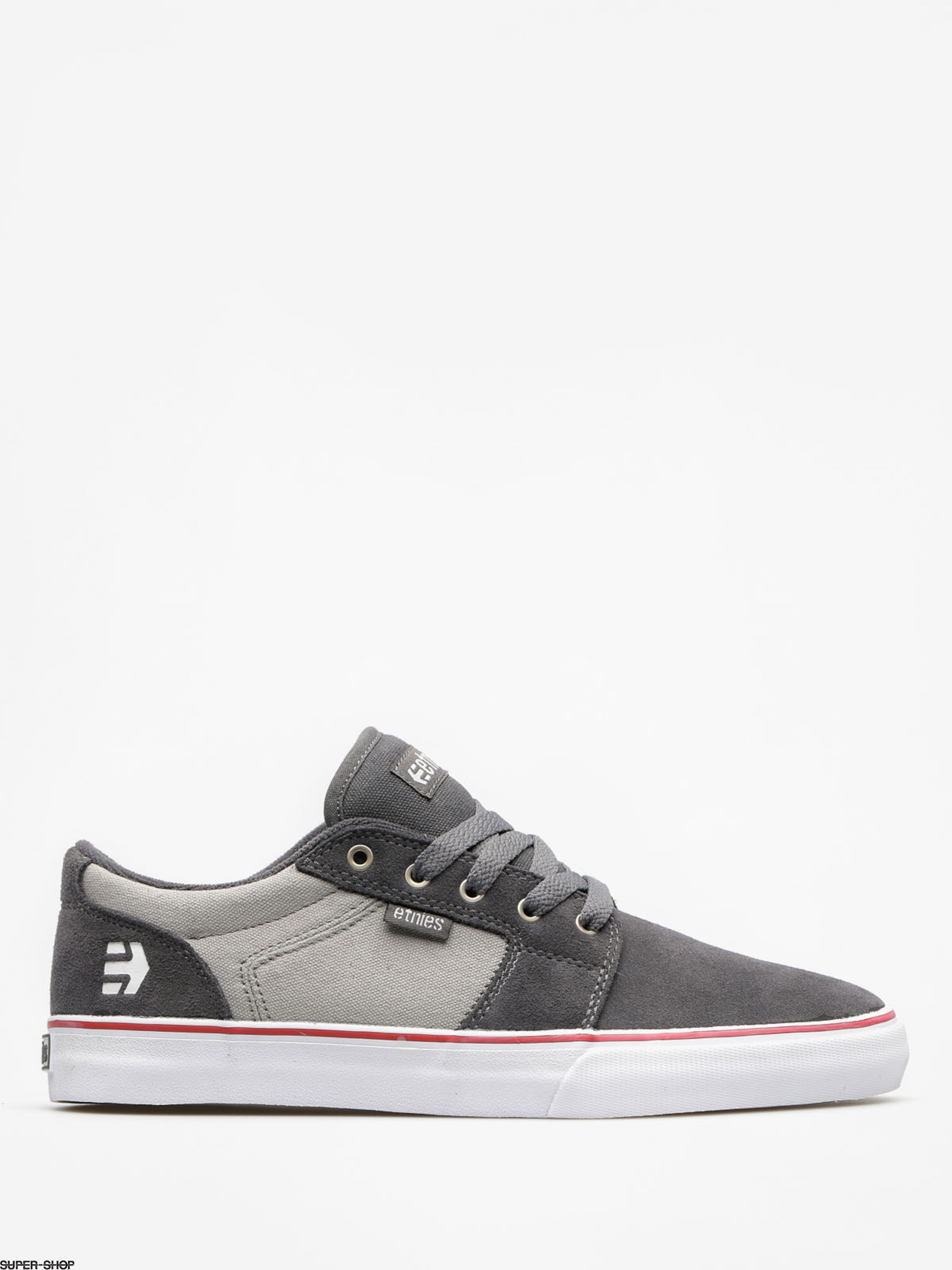 Etnies Shoes Barge LS (dark grey/grey/red)