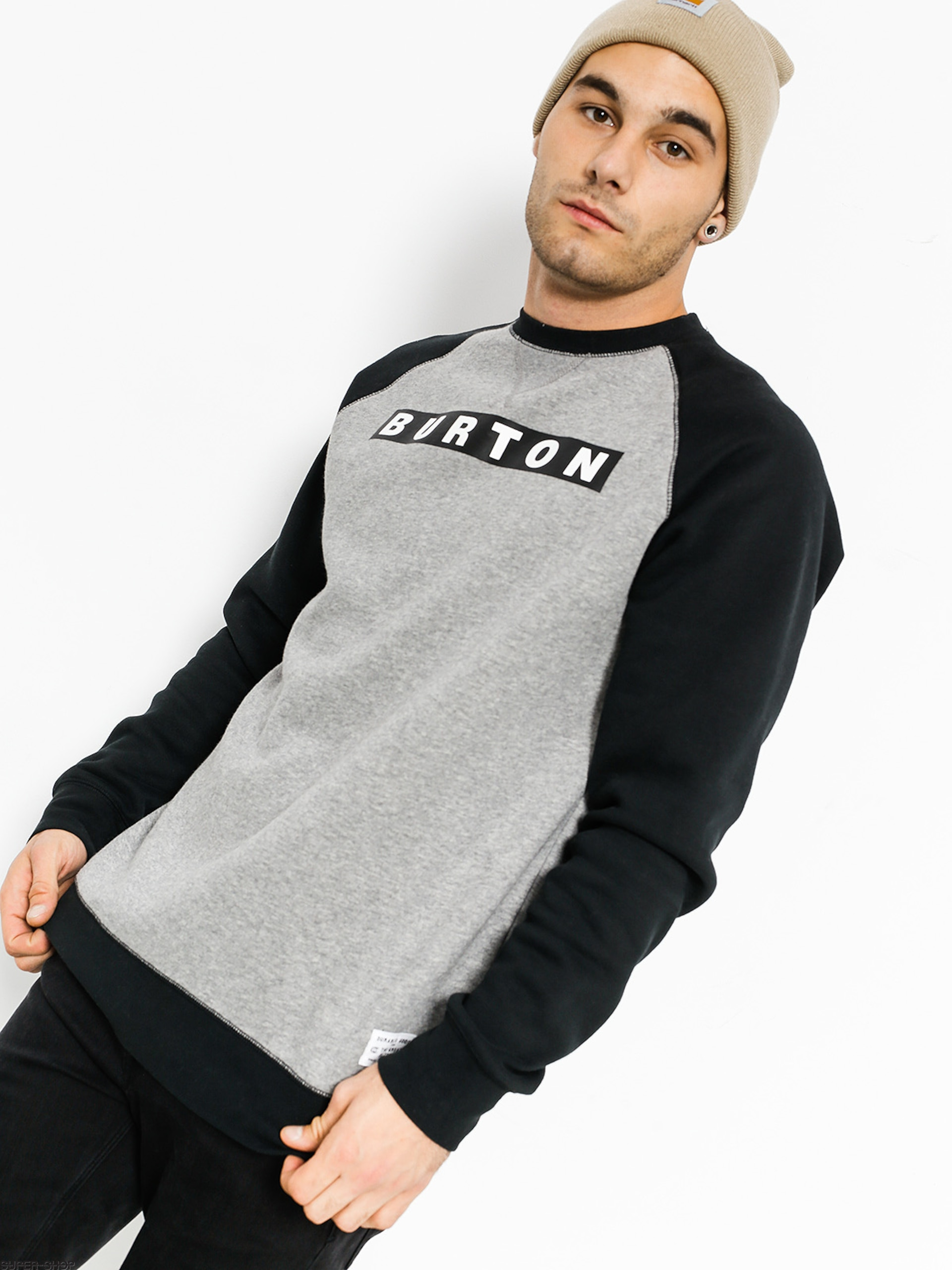 later newest collection wholesale online Burton Sweatshirt Vault Crew (gray heather)