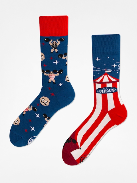 Many Mornings Socken Showtime (blue/red)