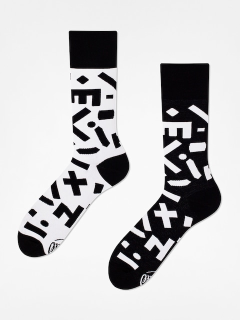 Many Mornings Socken Random Forms (black/white)
