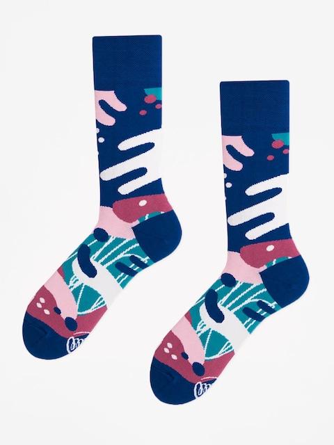 Many Mornings Socks Scribbles (navy)