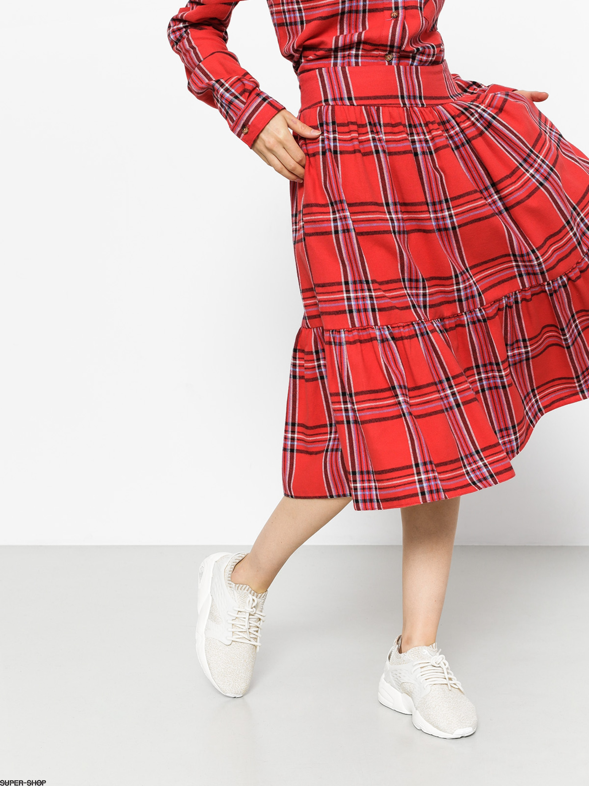 Femi Stories Skirt Bari Wmn (pld red)