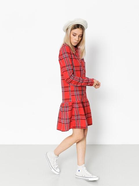 Femi Stories Dress Larsa Wmn (pld red)