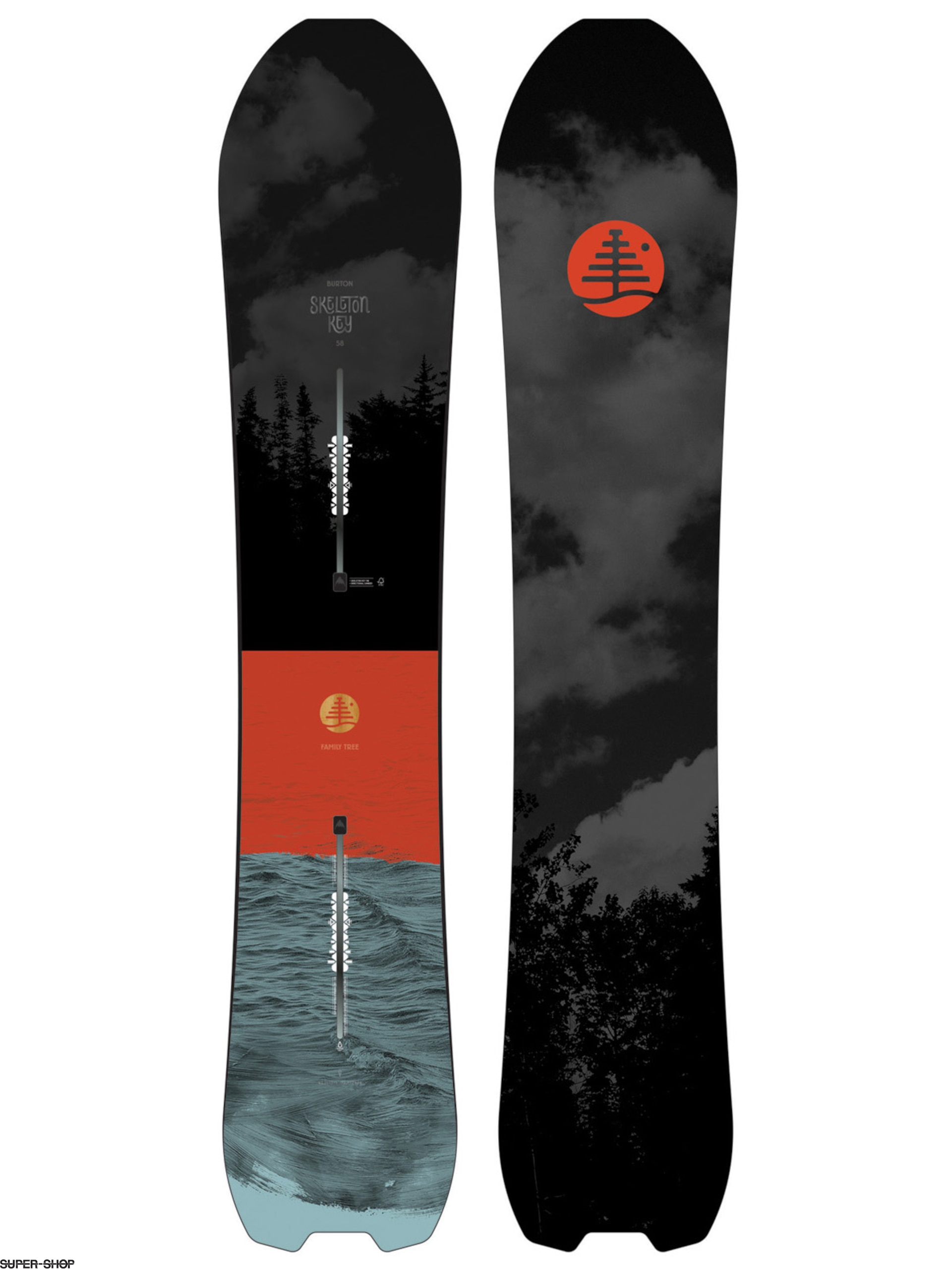 Burton Snowboard Family Tree Skeleton Key (multi)