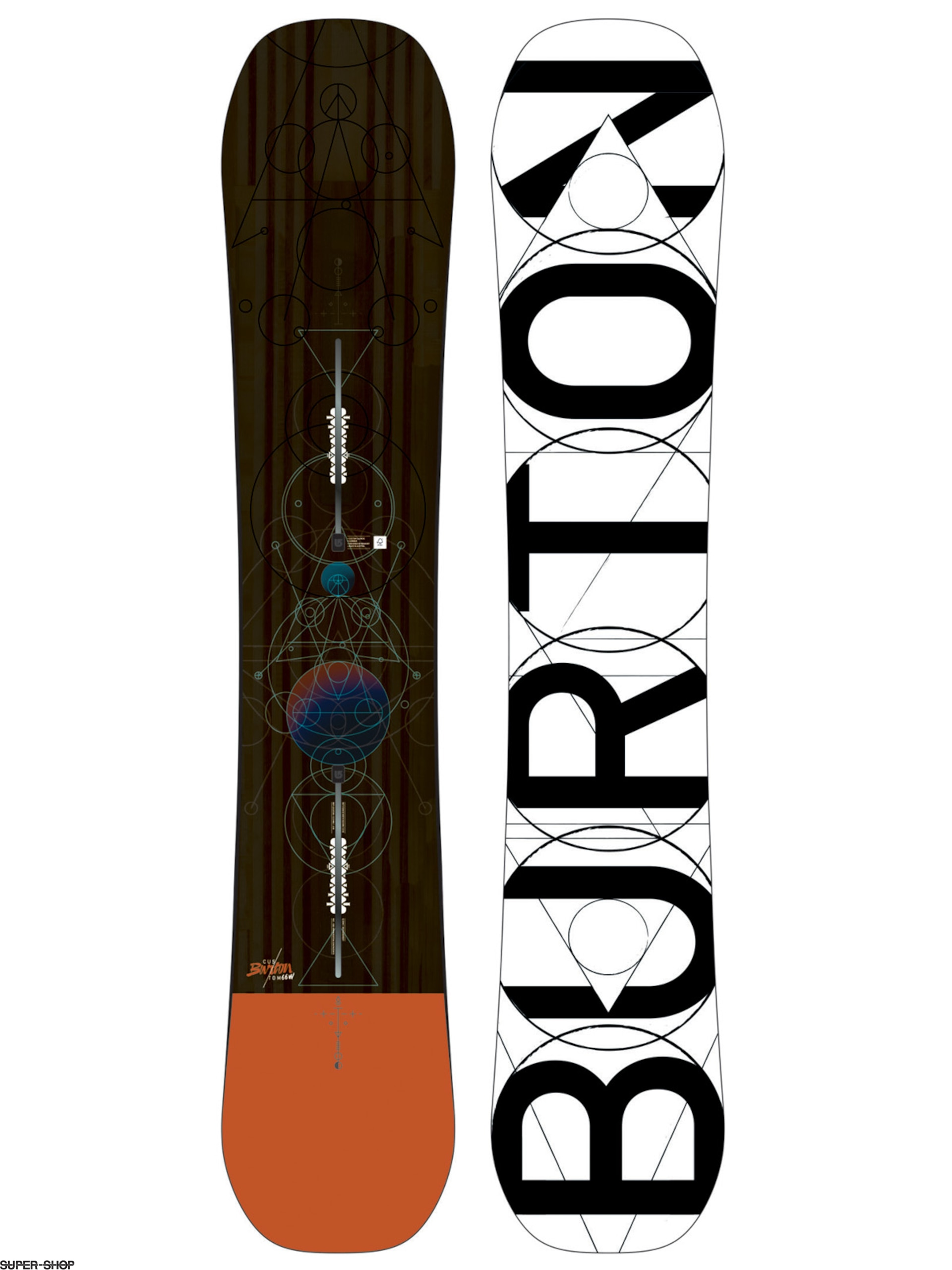 Burton Snowboard Custom (orange)