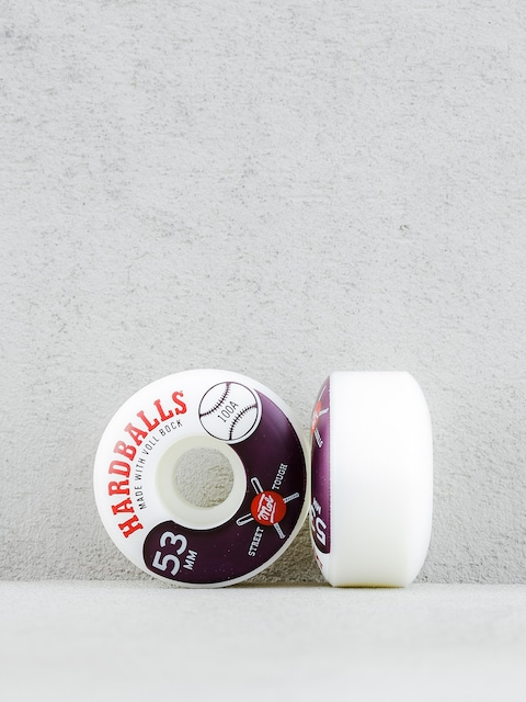 Mob Skateboards Wheels Hardballs (white/maroon)